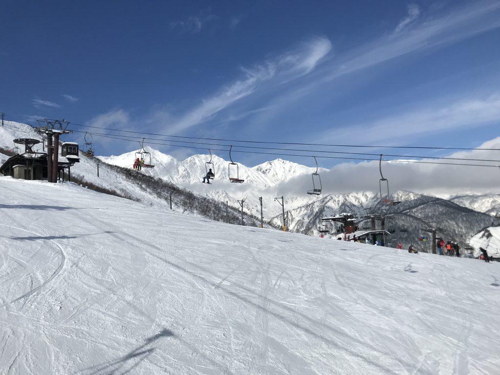 スキー 場 八方尾根 天気 白馬